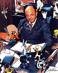 Cartoon voice artist Mel Blanc.
