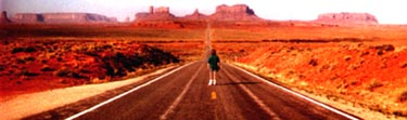 Mike Durrett on the road to Monument Valley.