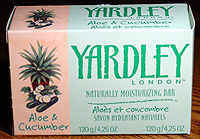 Photo: Yardley's Aloe & Cucumber soap.