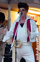 The real Elvis sings with the Clambake band. Photo copyright 2004 Mike Durrett, all rights reserved.