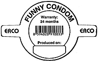 Funny condom disclaimer.