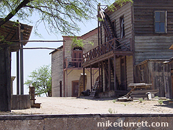 Alley off the main street at the Mescal movie location. Photo copyright 2003-2004 Mike Durrett, all rights reserved.