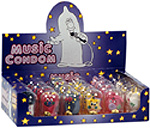 A display box of Music Condoms.