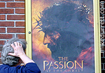 Mike outside ''The Passion of the Christ'' theatre, or so he thought.