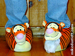 Photo: Tigger slippers.